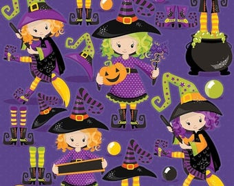 80% OFF SALE Halloween clipart commercial use, witch clipart vector graphics, witches digital clip art, wand digital images - CL1004