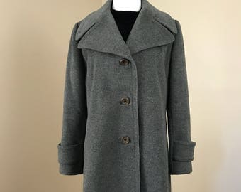 Vintage 60's Regency Union Made Gray Cashmere Peacoat