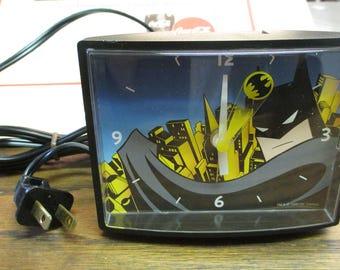Vintage Batman Electric  Alarm Clock - Made in U.S.A. - estate find