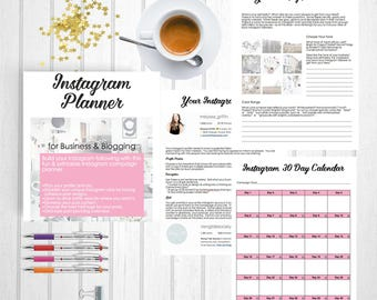 Instagram Planner | Social Media Planner | Instagram Guide | Instagram Tutorial | Instagram Worksheet | PDF Printable | Shanhan Studio