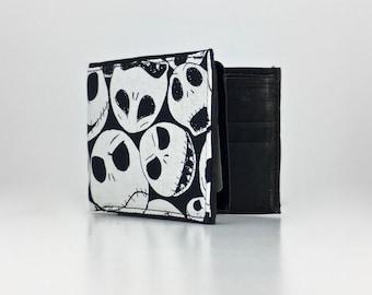 Jack skellington print handcrafted billfold wallet
