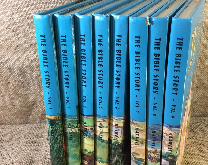 The Bible Story from 1954 Arthur Maxwell volumes 2-9 available, sold individually, replacement volumes for The Bible Story