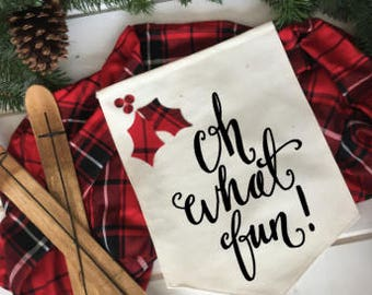 Oh what fun red and black plaid christmas/ Christmas wall decor/ christmas decoration/ wall hanging/ farmhouse christmas/ christmas sign