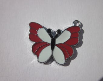 shape of colorful metal Butterfly charm 21 x 25 mm (B40)