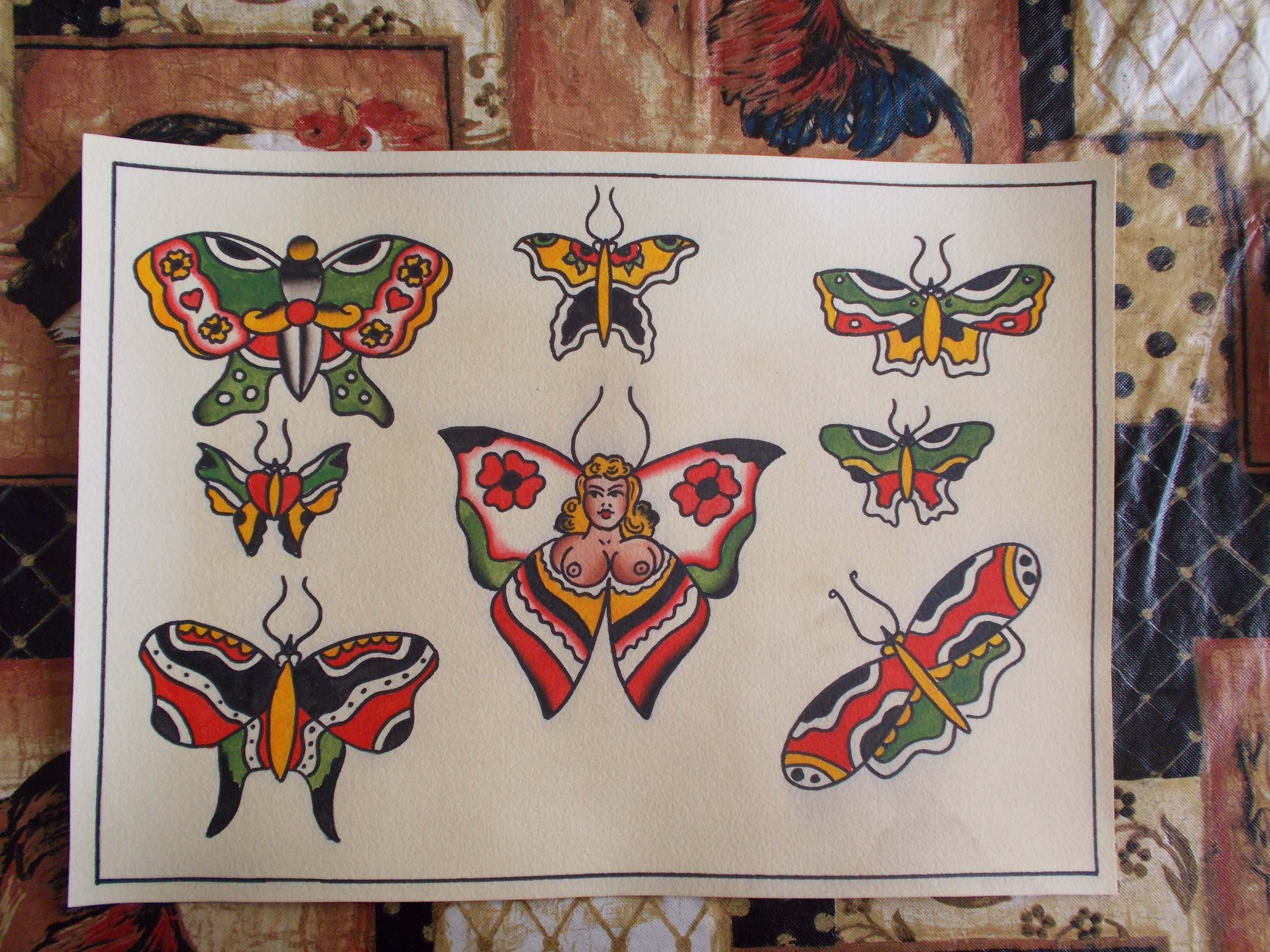 Traditional Butterfly Tattoo Flash: Traditional Tattoo Flash Butterfly'sbutterfly