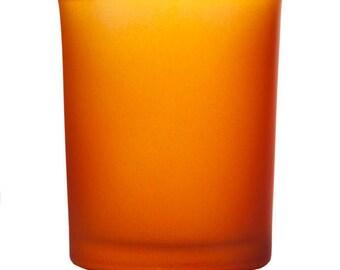 Orange Frosted Votive Candle Holder