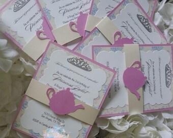 Princess Tea Party Invitations (Sets of 6+)