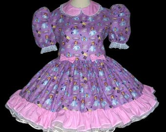 Adult Sissy Baby Dress~Princess Sofia~Princess in training~ABDL Adult Sissy Clothing, Crossdresser, Adult Sissy Panties, mans Dress, Sissy
