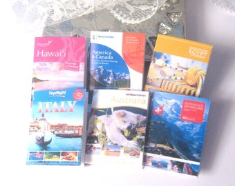 dollhouse holiday brochures travel  magazines 12th scale miniatures  x 6  lakeland artist new