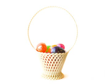 Beautiful Easter Basket | Vintage Basket | Emsa | Made in West Germany | Weave Design | Spring | Springtime | Spring Basket