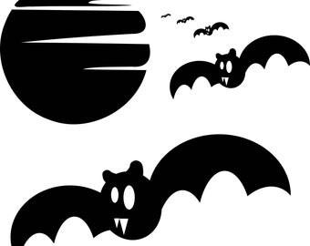 Spooky Halloween Bats SVG cut file