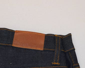 Toskana Loyola Tobacco color Calfskin trim ripped sikinny Women's jeans
