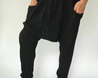 "HL0073 Harem Pants super soft rayon baggy unisex harem pants have the ""flow"", perfect of yoga"