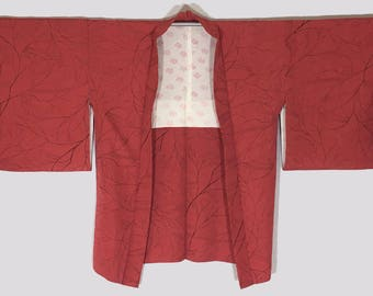 Vintage Japanese Silk Women's Haori Kimono Jacket