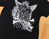 Wolf Sam Rulz Black Tattoo tees