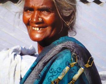 Earrings Oriental - ethnic jewelry - hand of Fatima - tassel earrings - earrings Bohemian Gypsy