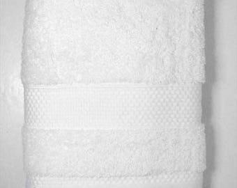 Towel 50x90cm white Terry cotton