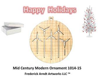 1014-15 Mid Century Modern Christmas Ornament