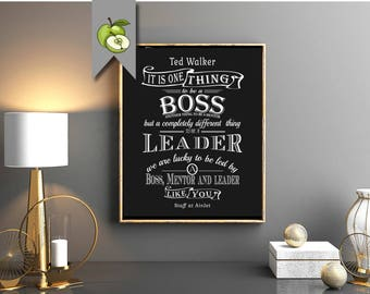 BOSS DAY, Personalised typography,  Boss, wall art print home decor, personalised men women DIY Printable