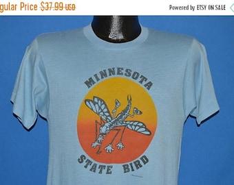 ON SALE 80s Minnesota State Bird Mosquito Sunset t-shirt Small