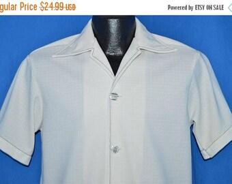 ON SALE 70s Sea Island Big Collar Cabana Aloha Hawaiian Shirt Small