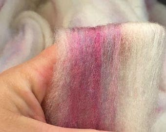Light Natural CVM Cross Wool Bamboo & Blue Pink Banana Silks