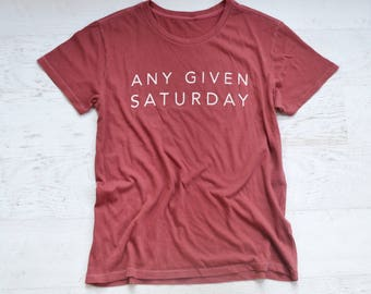 Any Given Saturday Tee - red