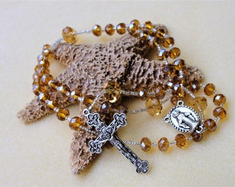 Catholic RosaryMens Rosary,Womens Rosary,Italian Crucifix,Rosary Beads,Rosary,Confirmation Gift,Communion Gift,Baptism Gift,Prayer Beads