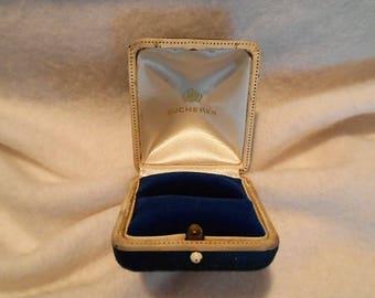 Vintage Bucherer Jewelers Presentation Ring Box, c. 1950
