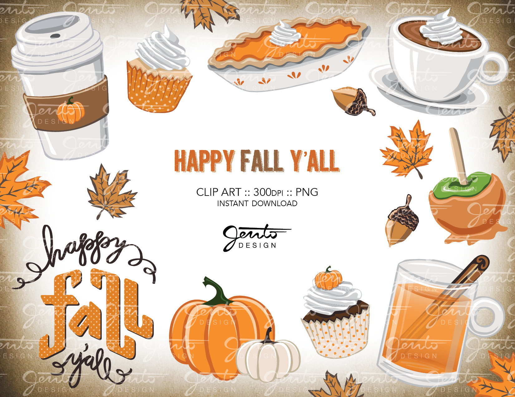 Happy Fall Y'all Clip Art Fall Favorites Pumpkin Spice