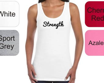 Inspirational Positive Message Great Gift Idea Strength Junior's  Tank Top DT6501 - RT-329
