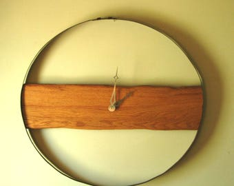 Rustic contemporary wall clock for cabin, man cave or farmhouse style