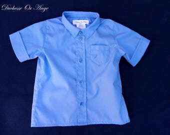 Baby blue hand - 2 years embroidery shirt