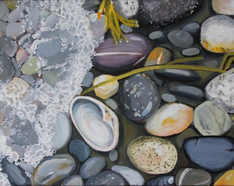 Rocky Coastline, Framed Original Art