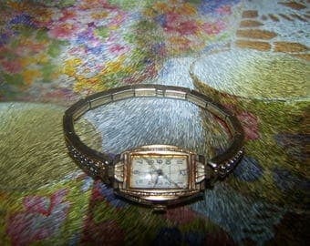 Ladies Superva Wrist Watch with  Adjustable Speidel Wrist Band Not Working  AS IS