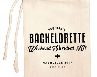 Bachelorette Party Favor Bags, Bachelorette Survival Kit, Personalized Bachelorette Gift Bags, Bachelorette Party Bags, Bachelorette Weekend