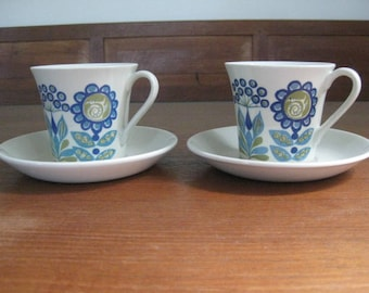 Figgjo Flint - Turi Design - Tor Viking - Set of two Cup / Saucer - Turi Gramstad Oliver - Norway - Mid Century