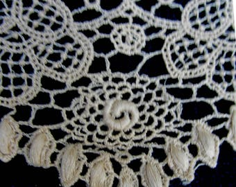 Fine antique lace trim