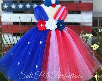 4th of July Tutu Dress, 4th of July Tutu, 4th of July Outfit, Patriotic Tutu, 4th of July Baby Girl, Tutu Dress, Toddler Tutu, Flag Tutu