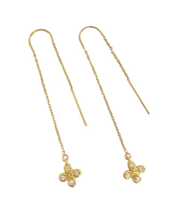 Bridal jewelry bridal ts 18k gold threader earrings gold