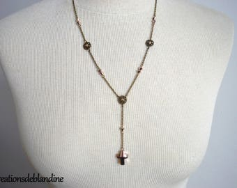"necklace ""Magdalena"" bicones and Swarovski Crystal cross"