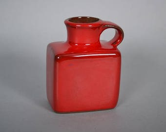 Red Gräflich Ortenburg  vase marked