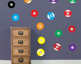 Pool balls Wall Stickers A64