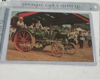10% OFF 3 day sale Vintage used  waterloo boy tractor Postcard kinzer PA