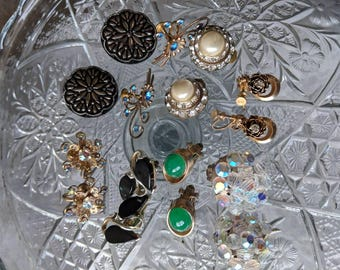 8 Pairs of Vintage Earrings