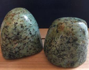 Green African Turquoise Beautiful Polished Free Standing Stones, Healing Stones, Healing Crystal,Chakra Stones, Spiritual Stone