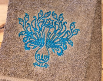 Peacock Towel Set Etsy