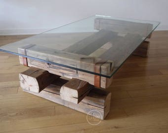 Delightful Coffee Table. Reclaimed Wood And Glass. Barn Wood Coffee Table. Handmade Coffee  Table