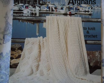 American School of Needlework Fisherman Afghans to Knit and Crochet 1063
