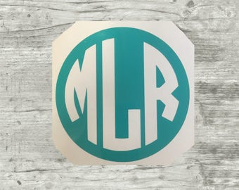 Inverse Vinyl Decal, Monogram Initials Decal, Yeti Decal, Swell Monogram, Camelbak water bottles decal